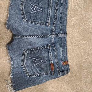7 for all Mankind Raw Hem Shorts